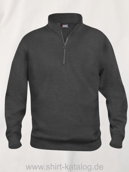 021033-clique-basic-sweatshirt-half-zip-anthrazit