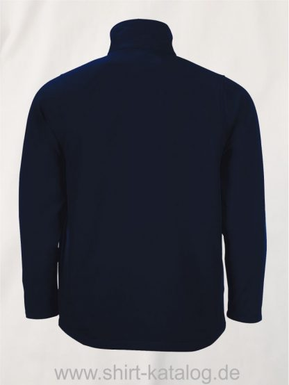 10092-Sols-Mens-Softshell-Zip-Jacket-Race-french-navy-back-view