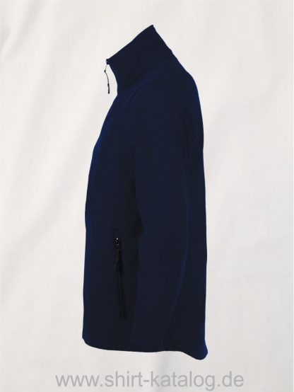 10092-Sols-Mens-Softshell-Zip-Jacket-Race-french-navy-side-view