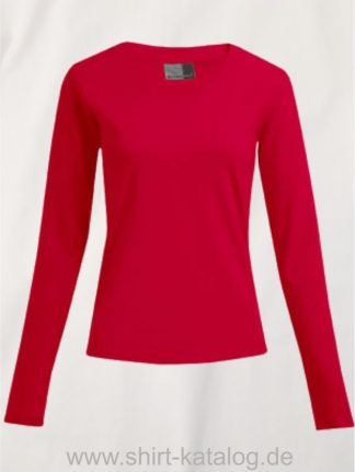 10105-promodoro-womens-wellness-v-neck-t-longsleeve-3360-fire-red