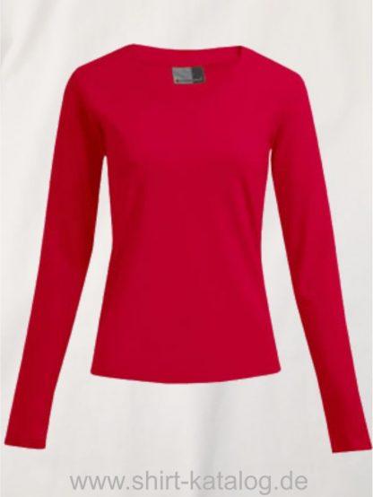 10105-promodoro-womens-wellness-v-neck-t-longsleeve-3360-fire-red