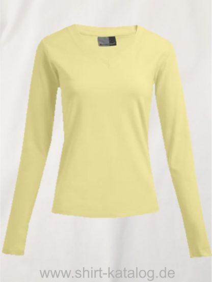 10105-promodoro-womens-wellness-v-neck-t-longsleeve-3360-lemon