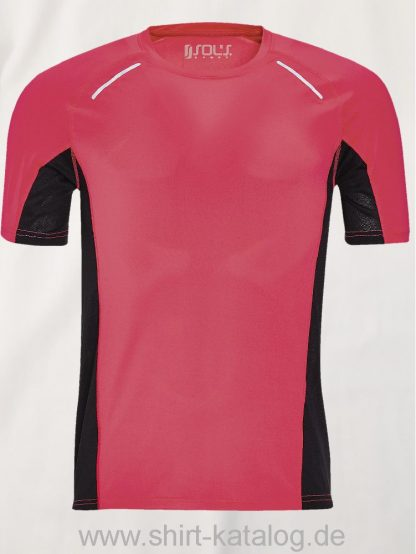 11516-Sols-Men-Short-Sleeve-Running-T-Shirt-Sydney-Neon-Coral