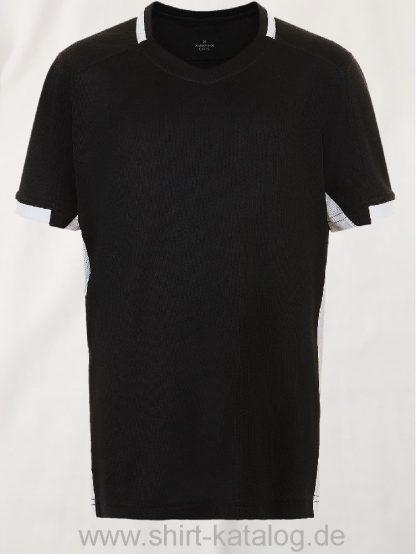 11531-Sols-Classico-Kids-Contrast-Shirt-Black-White