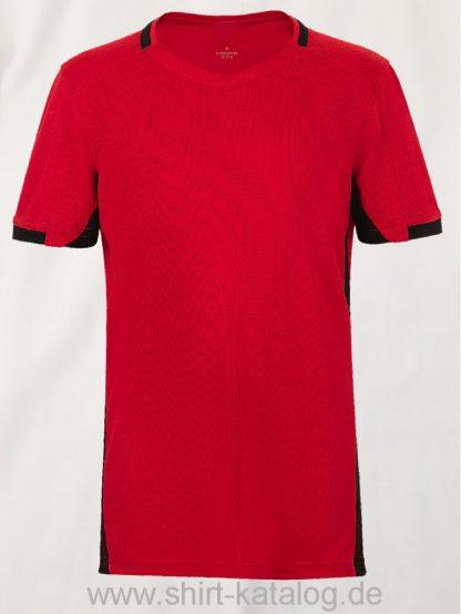 11531-Sols-Classico-Kids-Contrast-Shirt-Rot-Schwarz