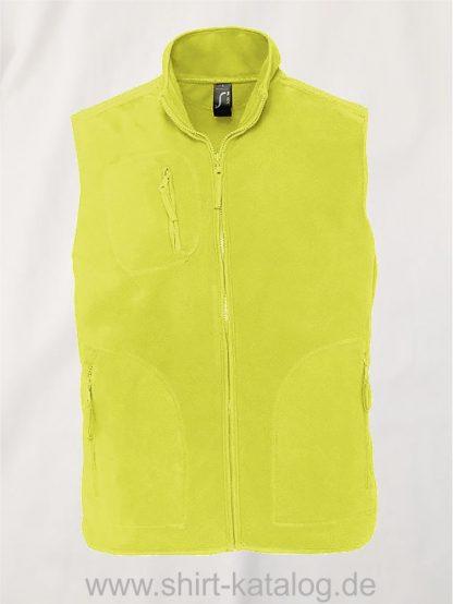 12691-Sols-Fleeceweste-Norway-neon-yellow