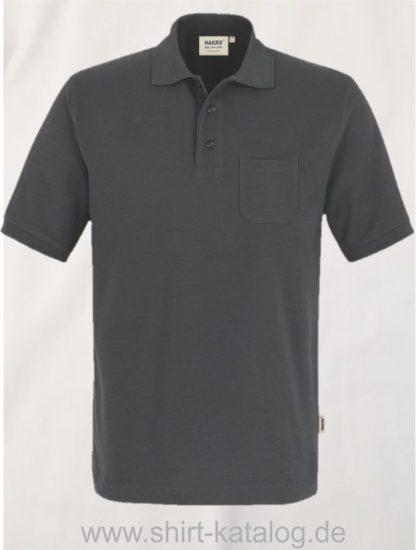 15864-Pocket-Poloshirt MIKRALINAR-812-Anthrazit