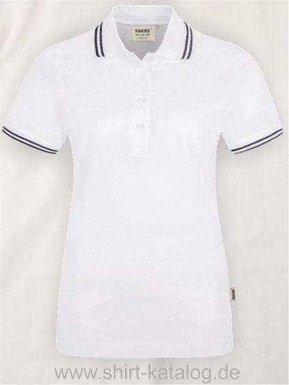 15878-hakro-women-poloshirt-twin-stripe –205-white