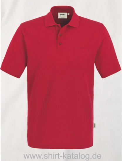15884-Hakro-Pocket-Poloshirt-Top-802-Rot