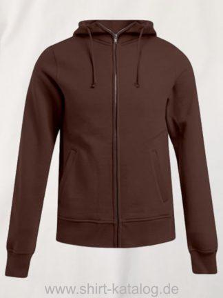 16583-promodoro-mens-hooded-jacket-chocolate
