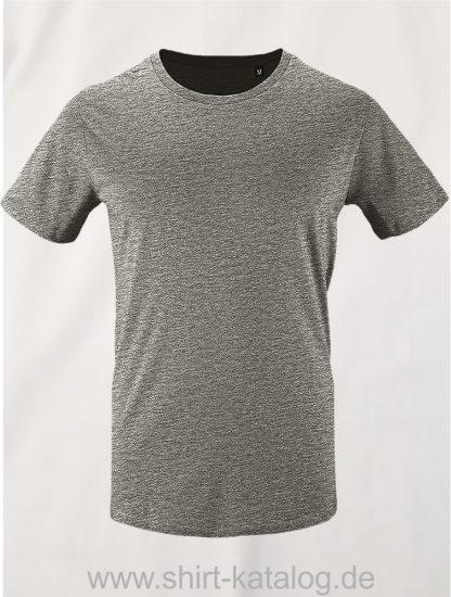 16823-Sols-Mens-Short-Sleeved-T-Shirt-Milo-Grey-Melange