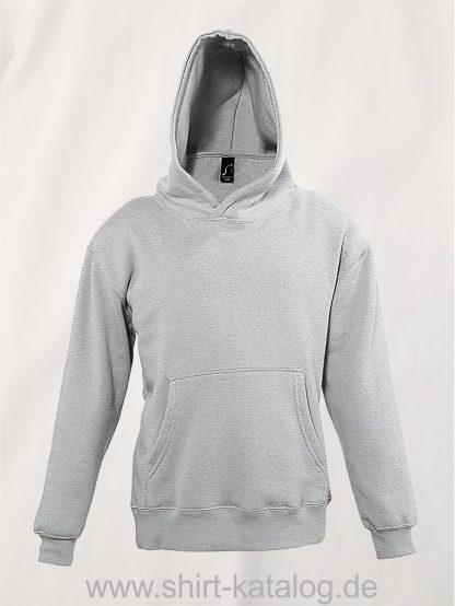 16853-Sols-Kids-Hooded-Sweat-Slam-grey-melange