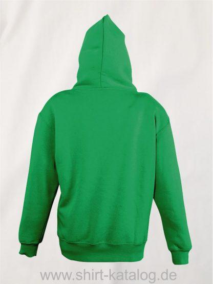 16853-Sols-Kids-Hooded-Sweat-Slam-kelly-green-back-view