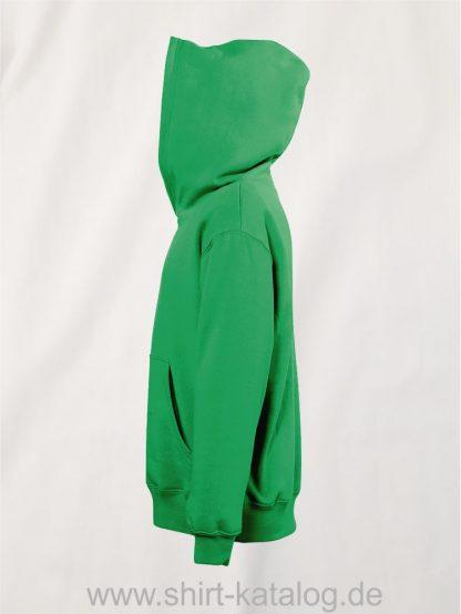 16853-Sols-Kids-Hooded-Sweat-Slam-kelly-green-side-view