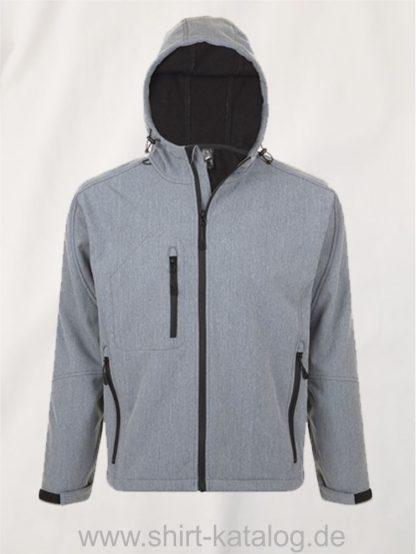 16938-Mens-Hooded-Softshell-Jacket-Replay-grey-melange