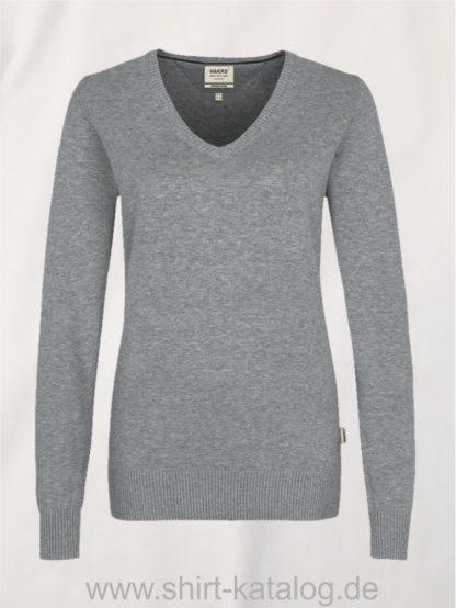 18368-hakro-women-v-pullover-premium-cotton-133-graumeliert