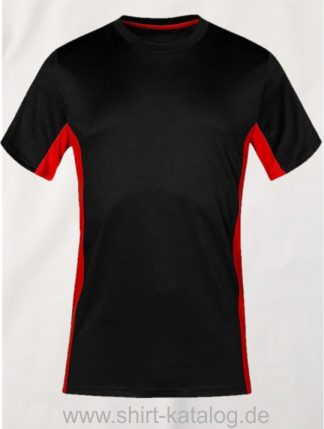 23911-Unisex-Function-Contrast-T-3580-Black-Red