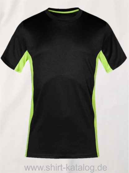 23911-Unisex-Function-Contrast-T-3580-Graphite-Safety-Yellow