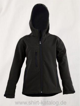 25882-Kids-Hooded-Softshell-Jacket-Replay-black