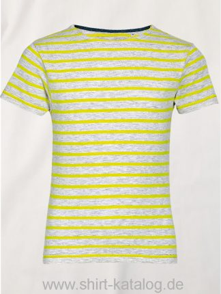 26161-Sols-Kids-Round-Neck-Striped-T-Shirt-Miles-Ash-Lemon