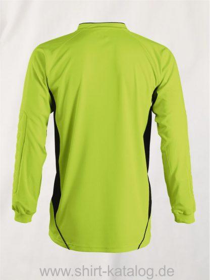 27116-Sols-Goalkeepers-Shirt-Azteca-apple-green-black-back-view