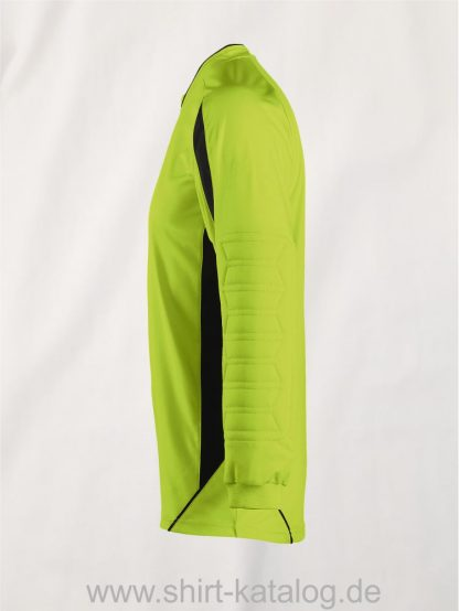 27116-Sols-Goalkeepers-Shirt-Azteca-apple-green-black-side-view