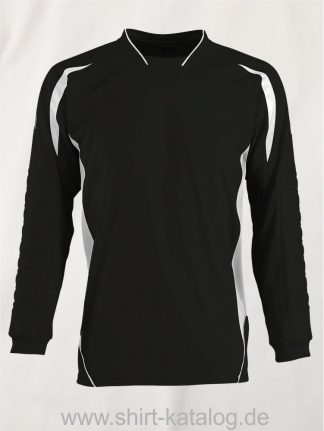 27513-Sols-Kids Goalkeepers Shirt Azteca-black-white