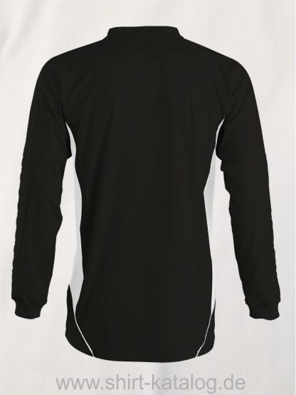 27513-Sols-Kids Goalkeepers Shirt Azteca-black-white-back-view