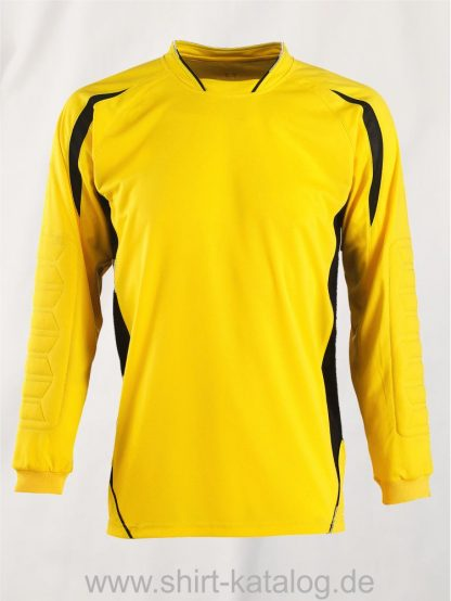 27513-Sols-Kids Goalkeepers Shirt Azteca-lemon-black