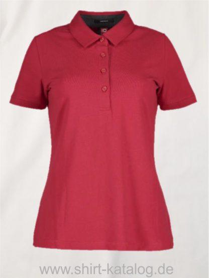 29335-ID-Identity-business-damen-poloshirt-stretch-0535-red