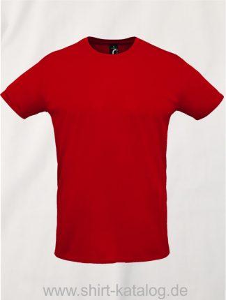 02995-Sols-Unisex-Sprint-T-Shirt-Rot