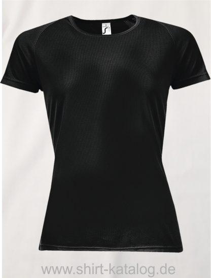 10182-Sols-Women-Raglan-Sleeves-T-Sporty-Black