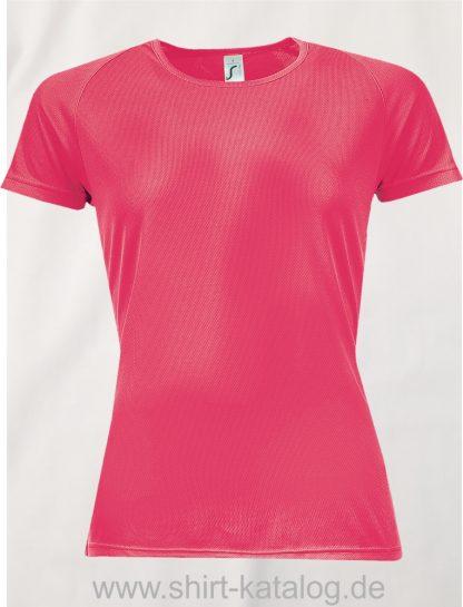 10182-Sols-Women-Raglan-Sleeves-T-Sporty-Neon-Coral