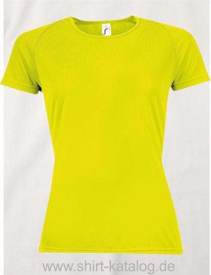 10182-Sols-Women-Raglan-Sleeves-T-Sporty-Neon-Gelb