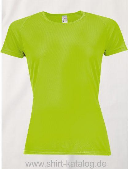 10182-Sols-Women-Raglan-Sleeves-T-Sporty-Neon-Green