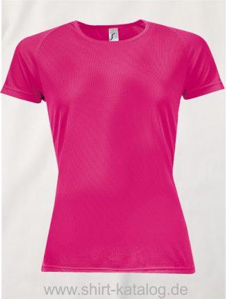 10182-Sols-Women-Raglan-Sleeves-T-Sporty-Neon-Pink