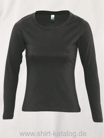 11444-Sols-Women-Long-Sleeve-T-Majestic-Dark-Grey