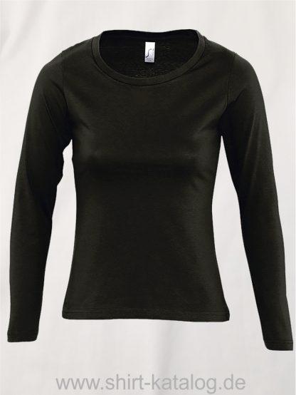 11444-Sols-Women-Long-Sleeve-T-Majestic-Deep-Black