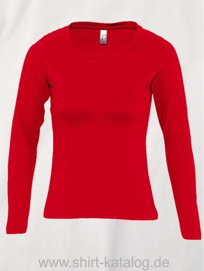 11444-Sols-Women-Long-Sleeve-T-Majestic-Red