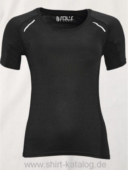 11517-Sols-Women-Short-Sleeve-Running-T-Shirt-Sydney-Black