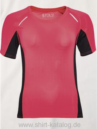 11517-Sols-Women-Short-Sleeve-Running-T-Shirt-Sydney-Neon-Coral