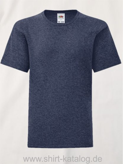11657-Fruit-Of-The-Loom-Kids-Iconic-T-F130K-Heather-Navy