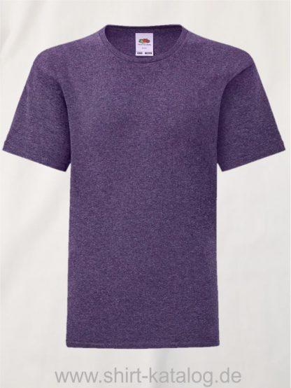 11657-Fruit-Of-The-Loom-Kids-Iconic-T-F130K-Heather-Purple