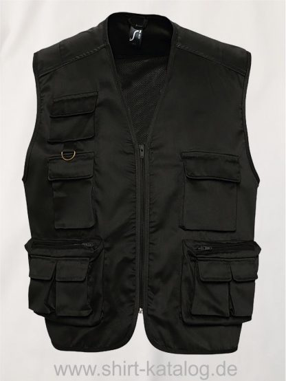 16934-Sols-Reporter-Jacket-Multipokets-Wild-black