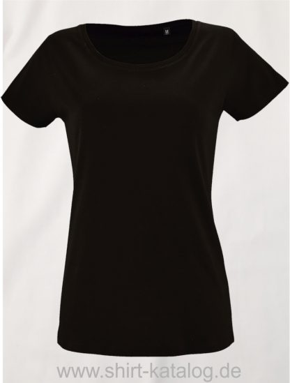 2077-Sols-Women-Short-Sleeved-T-Shirt-Milo-Deep-black