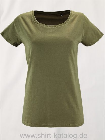 2077-Sols-Women-Short-Sleeved-T-Shirt-Milo-Khaki
