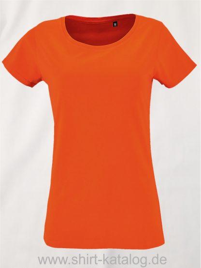 2077-Sols-Women-Short-Sleeved-T-Shirt-Milo-Orange