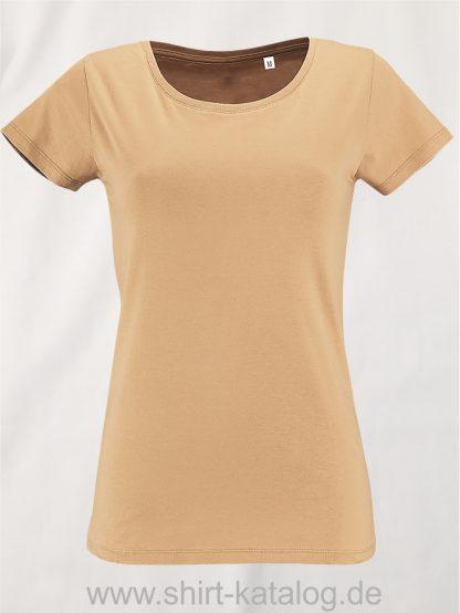 2077-Sols-Women-Short-Sleeved-T-Shirt-Sand