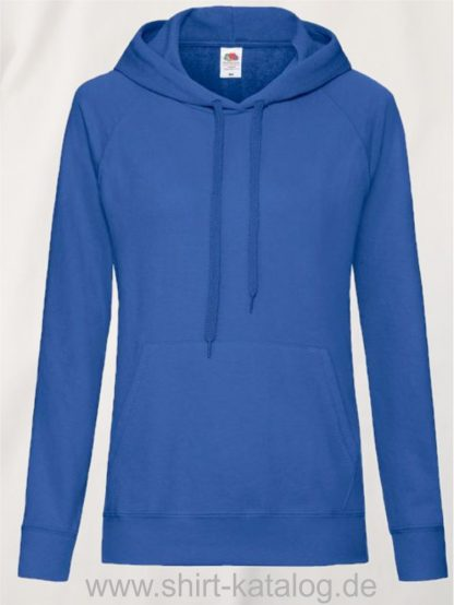 22011-Fruit-of-the-Loom-Lightweight Hooded Sweat Lady-Fit-Royal