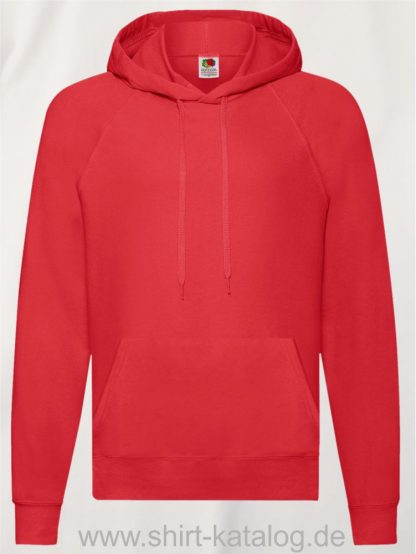 22013-Fruit-of-the-Loom-Lightweight-Hooded-Sweat-Red